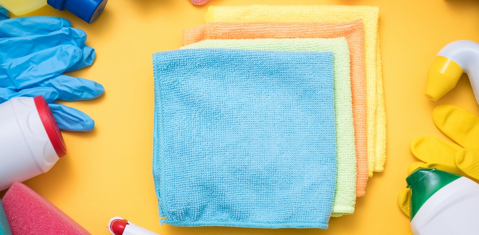 Towels are one of the best office cleaning supplies.