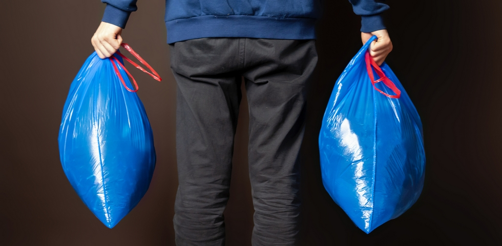 Trash bags are one of the best office cleaning supplies.