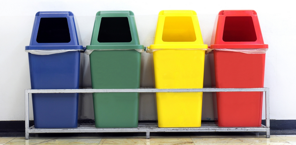 Trash cans are one of the best office cleaning supplies.