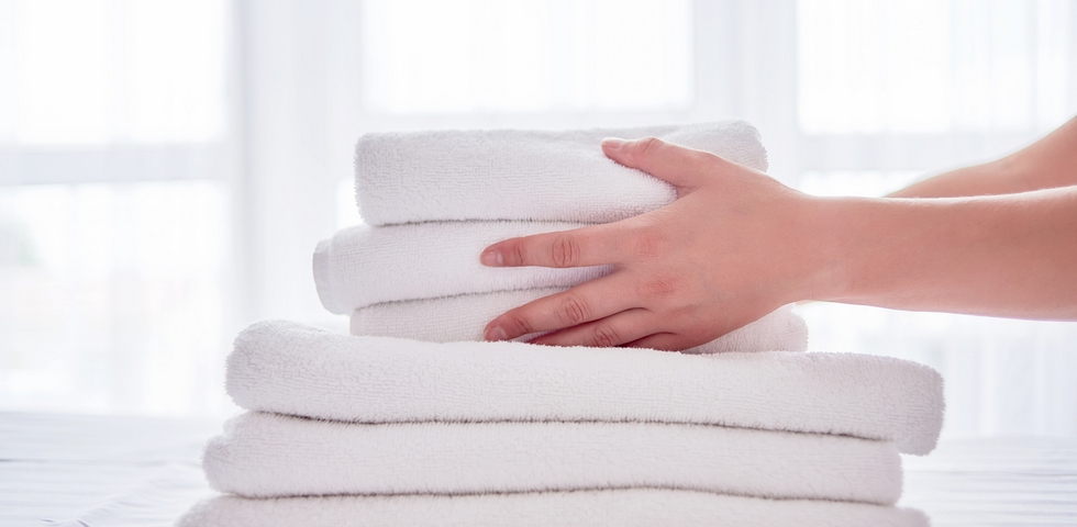 Replace the towels and bathmats.